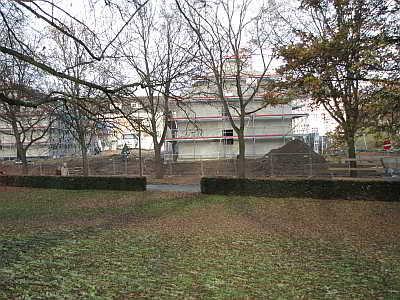 Das Cambrai Dreieck wird bebaut - die Reihenhäuser stehen schon